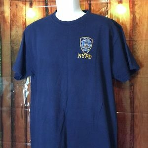 Fruit of the Loom heavy cotton tee NYPD